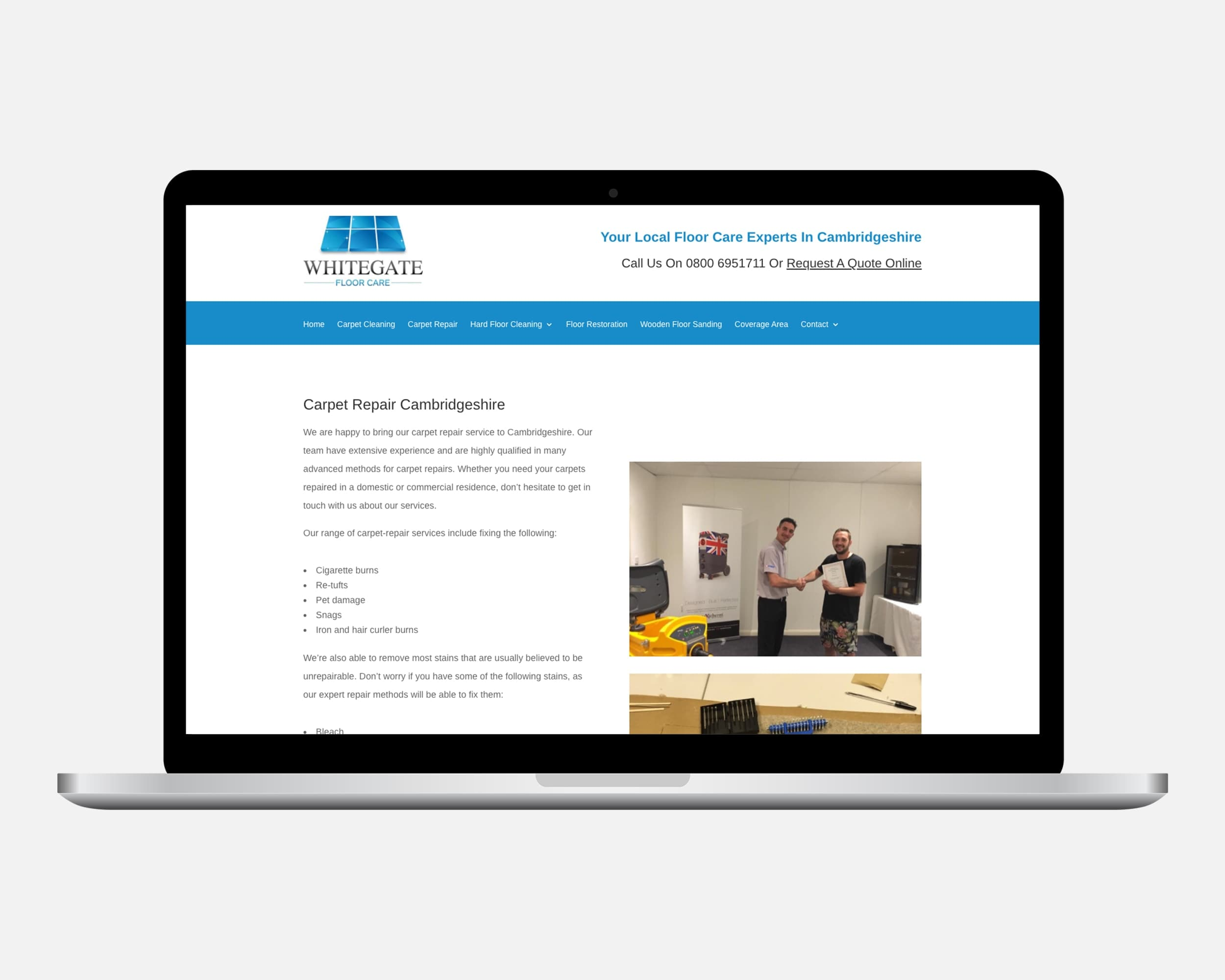 Web Design For Floor Care Specialists