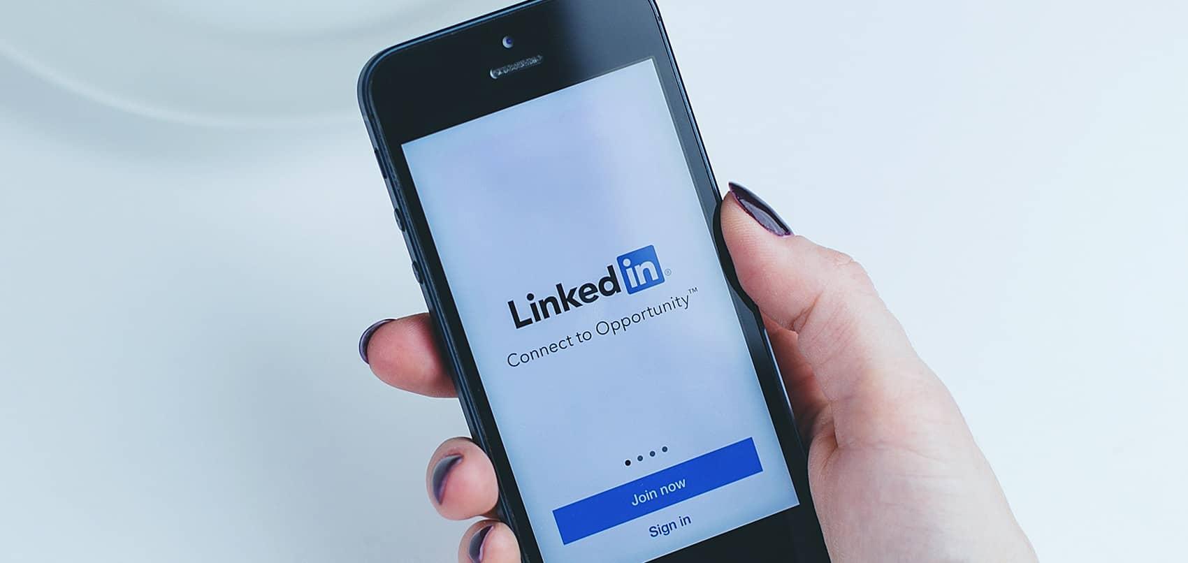 LinkedIn On Smartphone