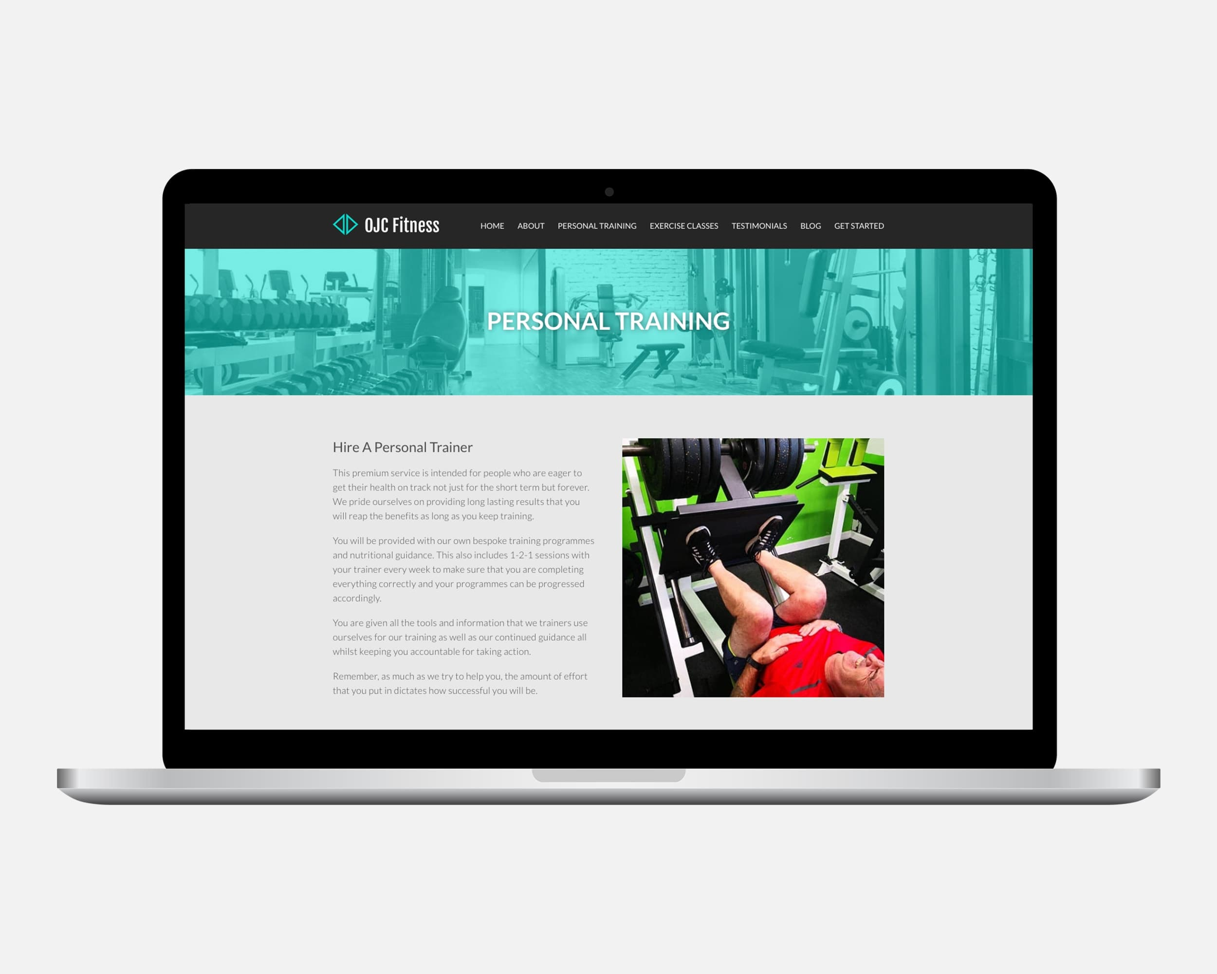 Personal Trainer Web Design