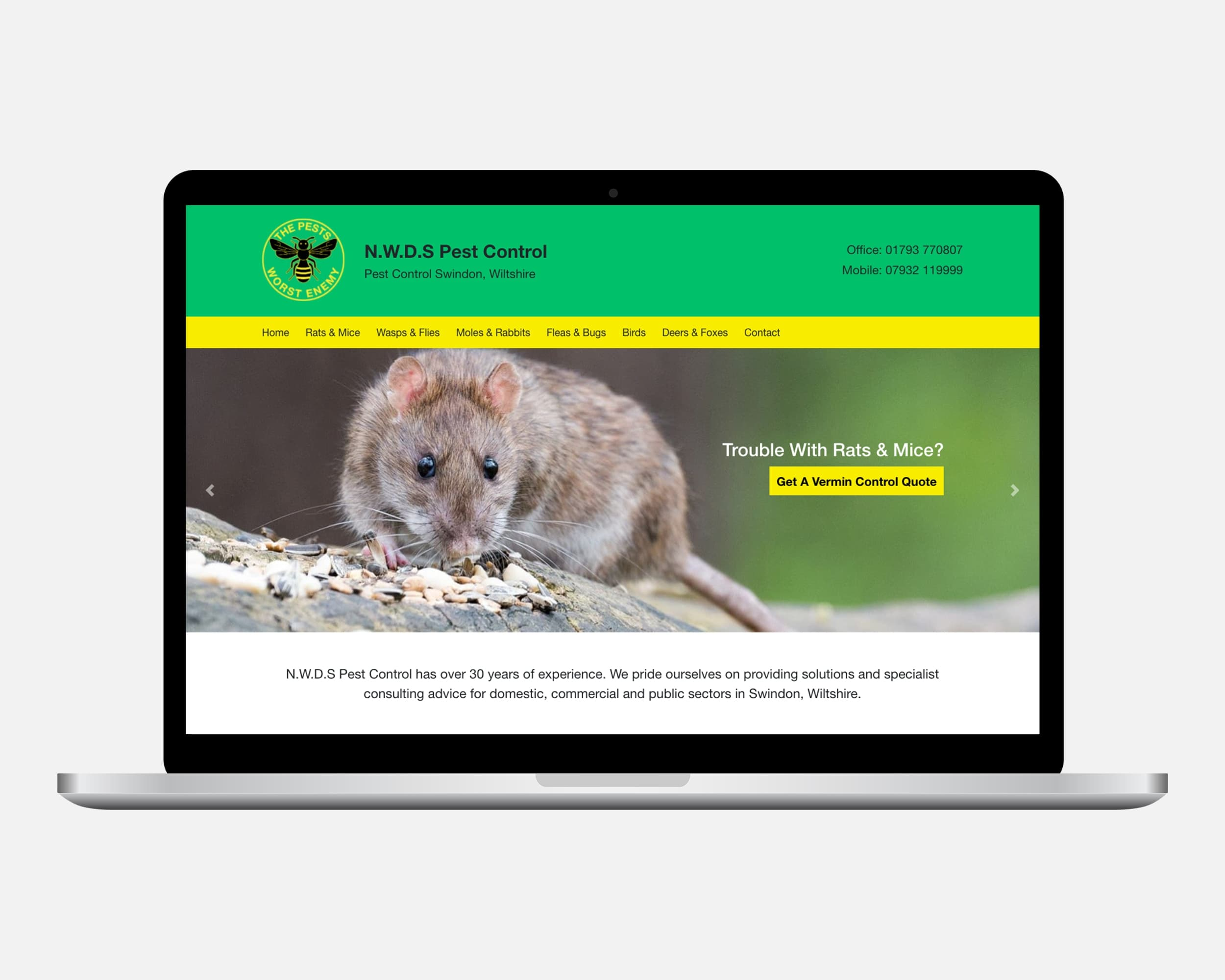Swindon Pest Control Website