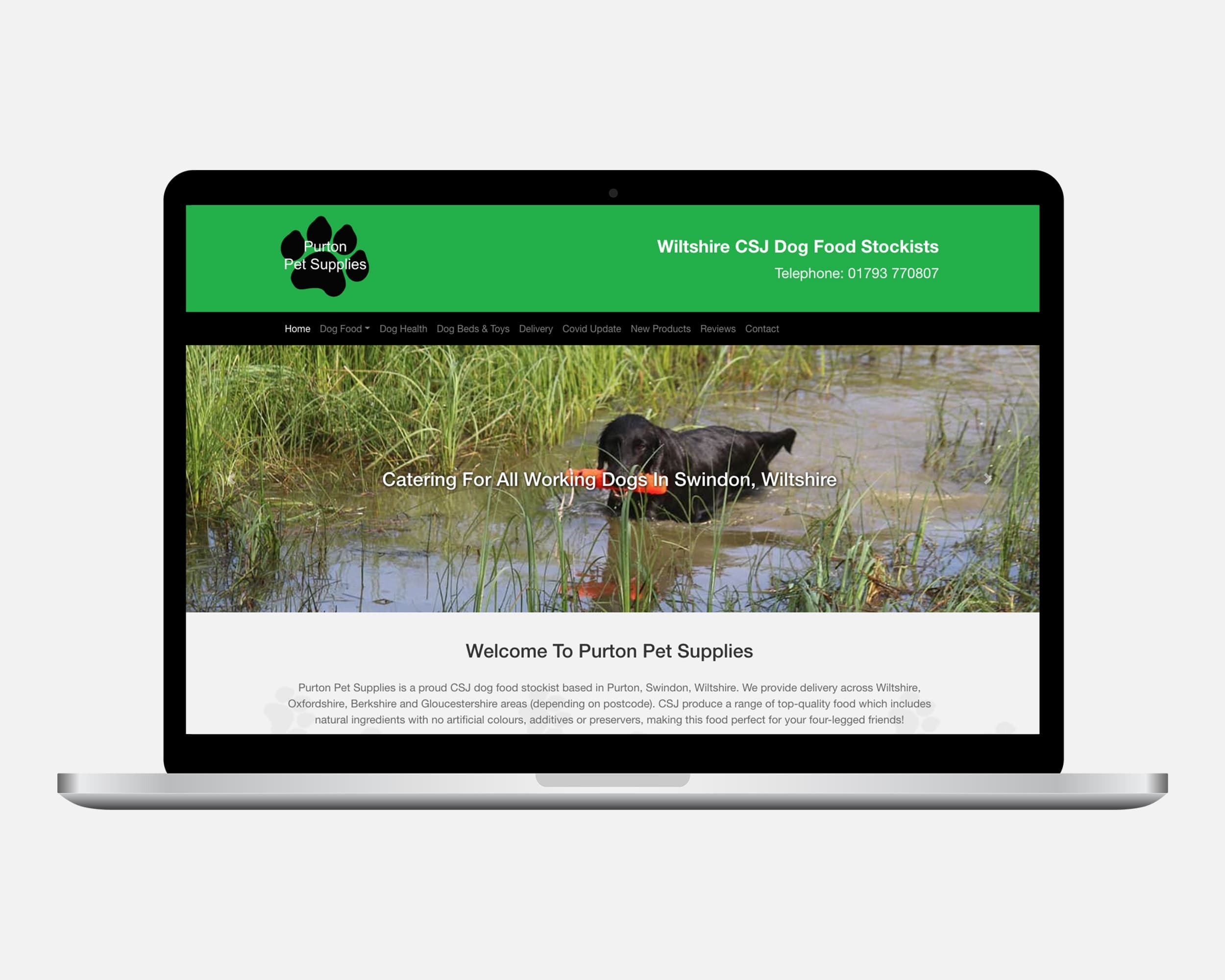 Purton Pet Supplies Website Design Swindon