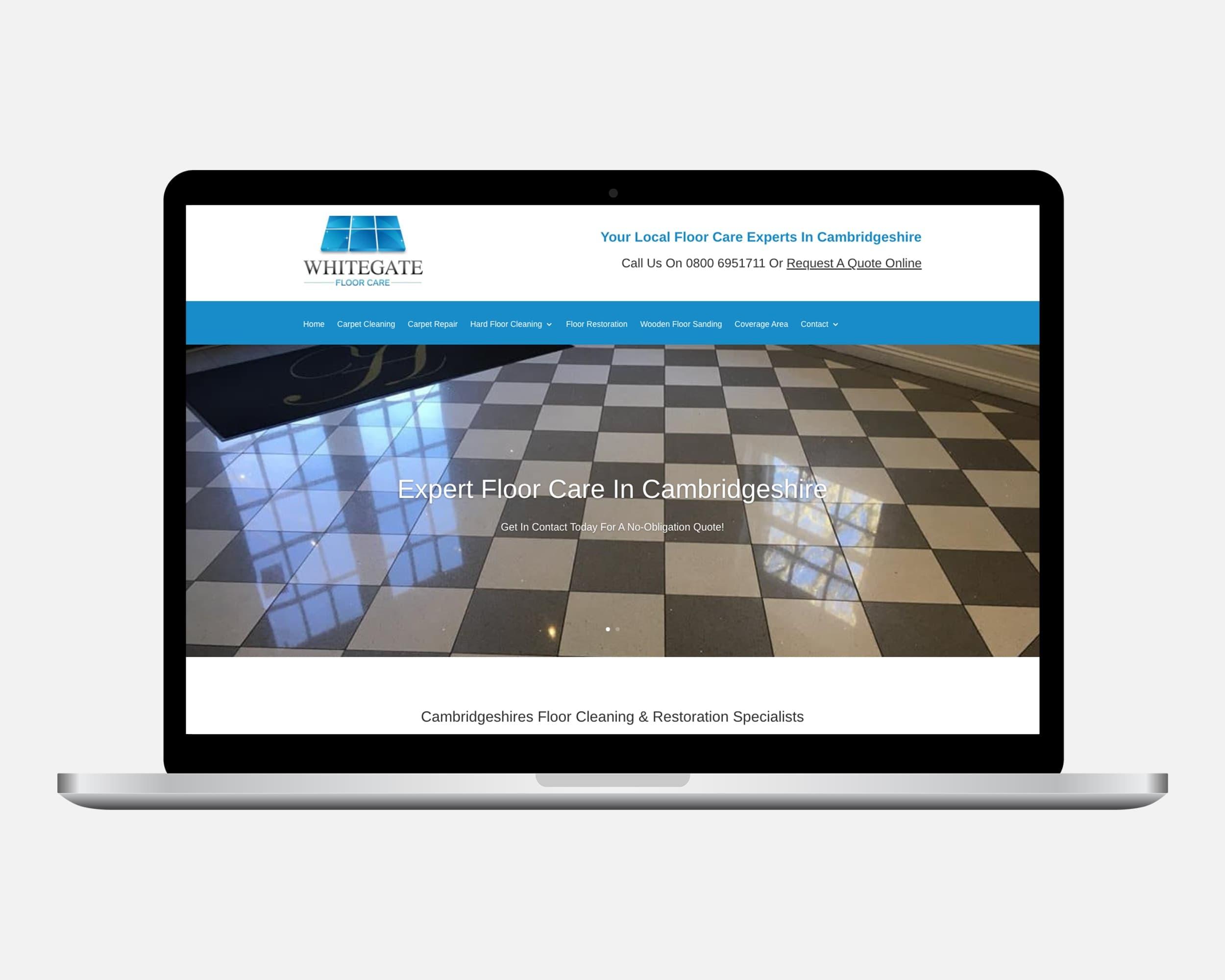 Whitegate Floor Care Web Design