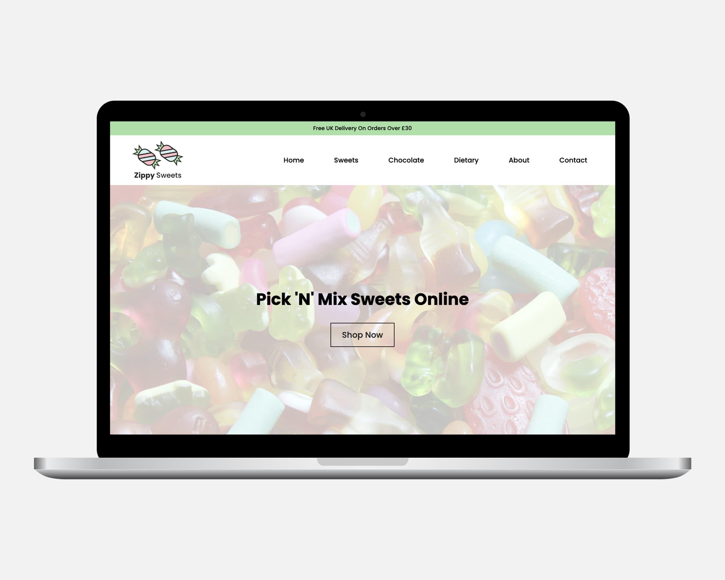 Zippy Sweets eCommerce Website